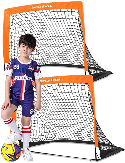 Dimples Excel Foldable Portable Mini Kids Soccer Goal