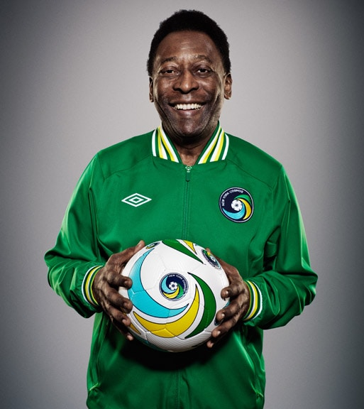 Pele with a soccer ball