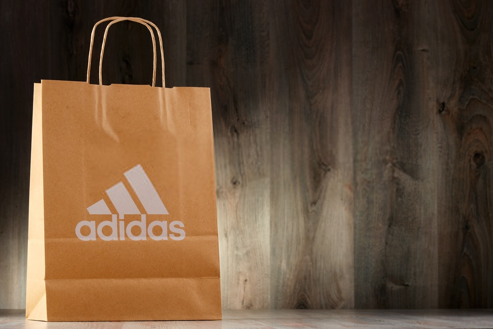 Adidas paper shopping bag