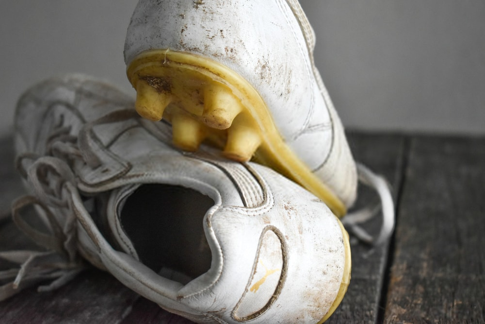 dirty soccer cleats