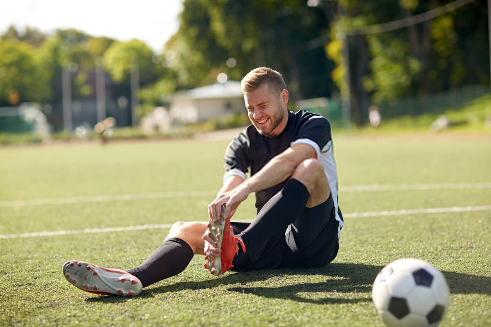 injured soccer player on the field