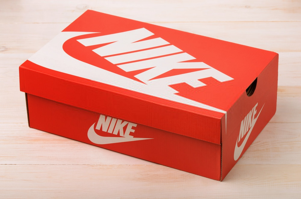 red Nike soccer cleats box